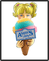 Serving Ashby's Ice Cream